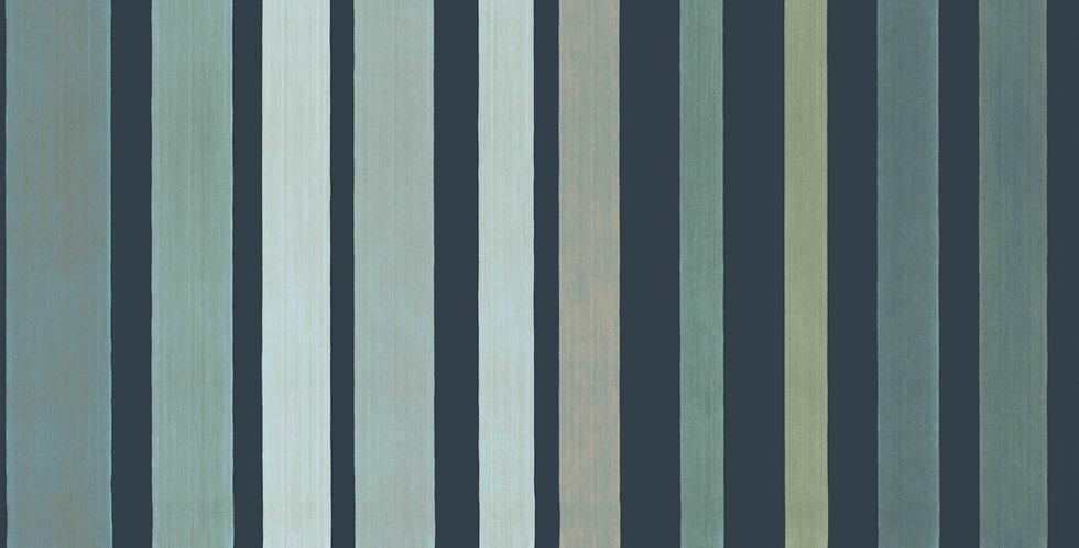 Cole & Son - Marquee Stripes Carousel Stripe Frosty Green 110/9041
