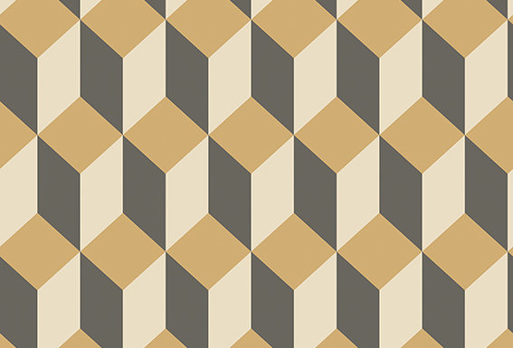 Cole & Son - Geometric II Delano Gold & Black 105/7030