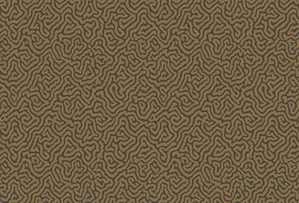 Cole & Son - Curio Vermicelli Black & Bronze 107/4020