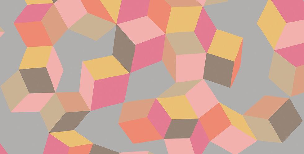 Cole & Son - Geometric II Puzzle Pink & Orange 105/2010