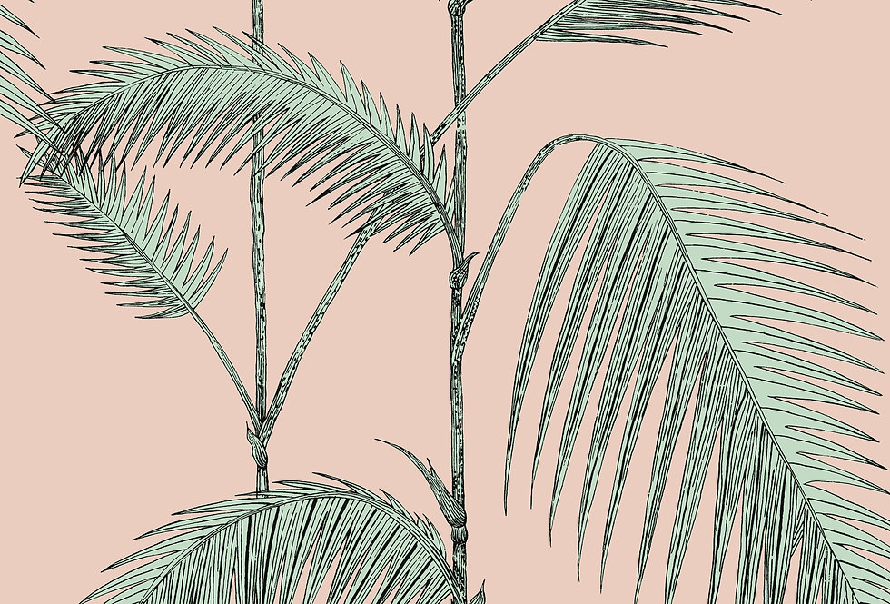 Cole & Son - Icons Palm Leaves Alabaster Pink & Mint 112/2005