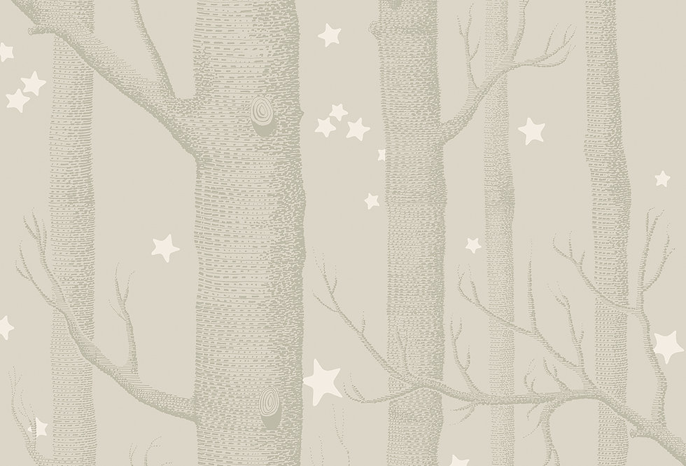 Cole & Son - Whimsical Woods & Stars Grey 103/11048