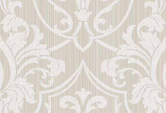 Cole & Son - Archive Traditional Petersburg Damask Grey & White 88/8034