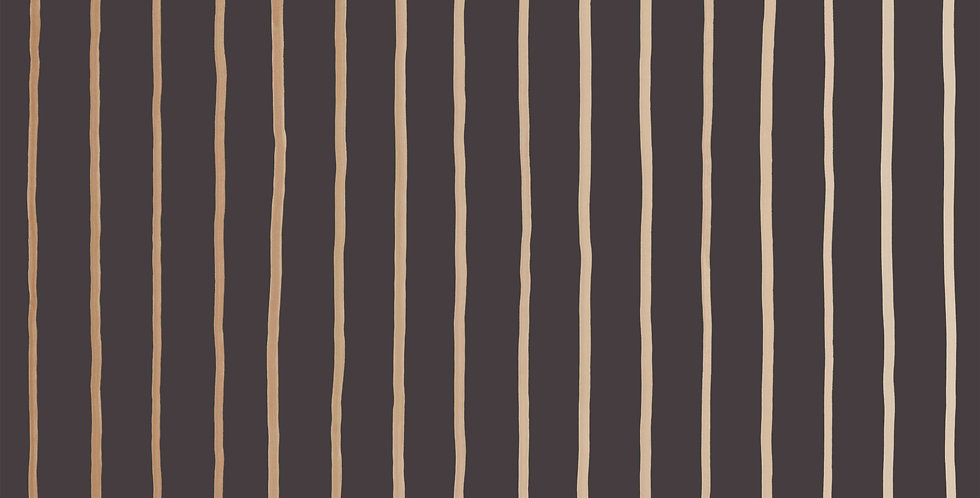 Cole & Son - Marquee Stripes College Stripe Charcoal & Gold 110/7034