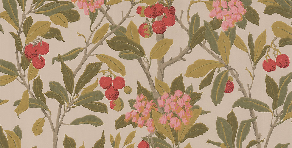 Cole & Son - Archive Anthology Strawberry Tree Pink & Linen 100/10047