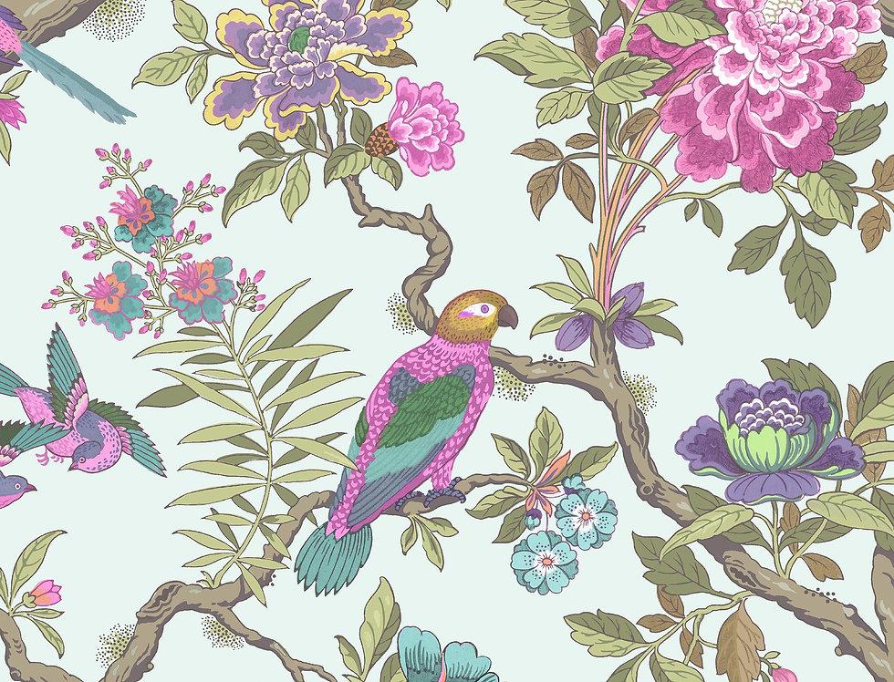 Cole & Son - Folie Fontainebleau Rose & Duck Egg 99/12051