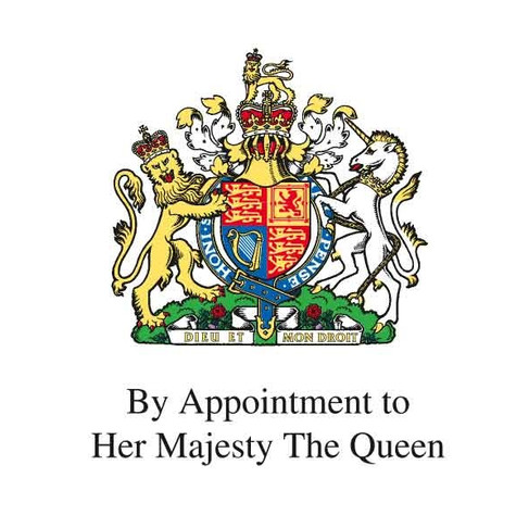 By Appointment to the Queen.