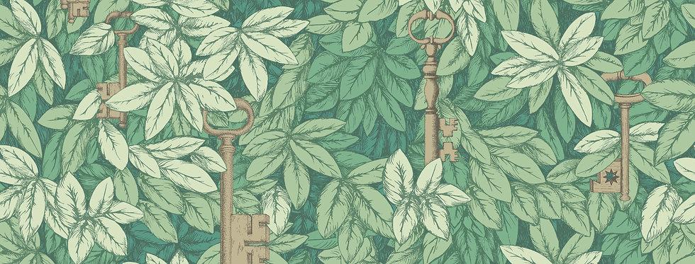 Cole & Son - Fornasetti Senza Tempo Chiavi Segrete Leaf Green 114/26050