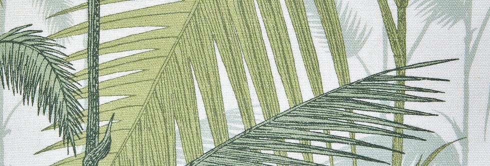 Cole & Son - The Contemp Coll Fabrics Palm Jungle Green on White F111/2007LU