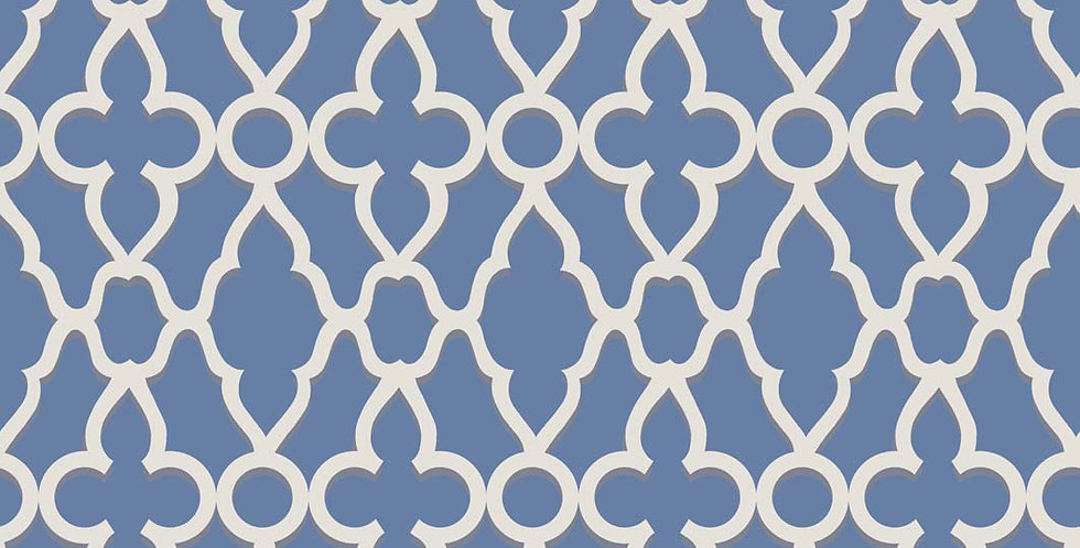 Cole & Son - The P/wood Coll Treillage White on Hyacinth 116/6021
