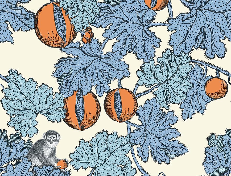 Cole & Son - Fornasetti Senza Tempo Frutto Proibito Cerulean & Orange 114/1003