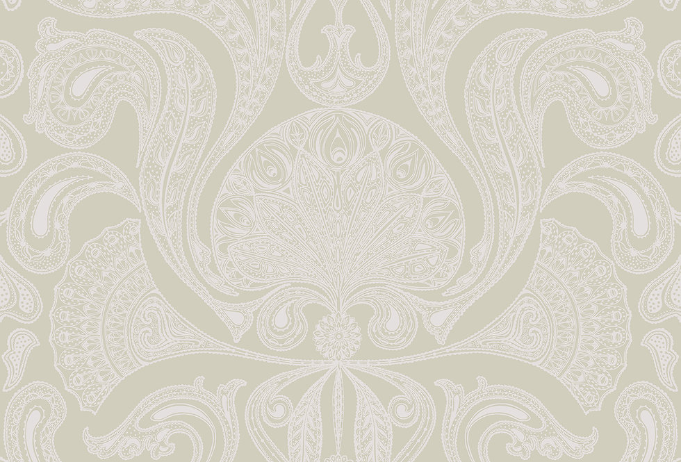 Cole & Son - The Contemp Coll Malabar Silver on Soft Olive 66/1003