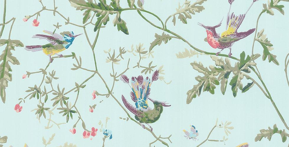Cole & Son - Archive Anthology Hummingbirds Blue Multi-Colour 100/14069