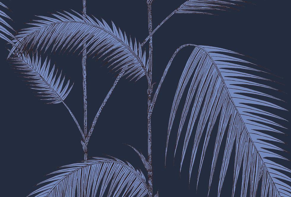 Cole & Son - Icons Palm Leaves Alabaster Ink & Violet 112/2008