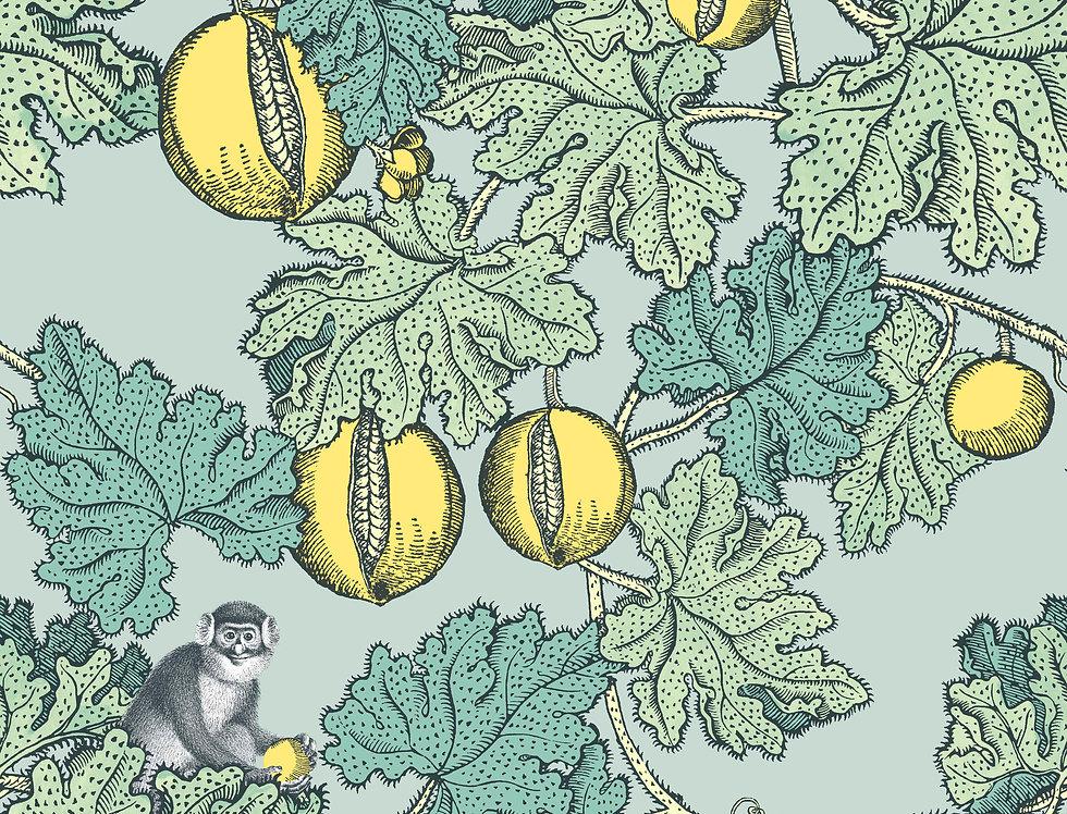 Cole & Son - Fornasetti Frutto Proibito Seafoam & Lemon 114/1002