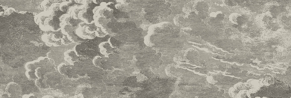 Cole & Son - Fornasetti Nuvolette Gilver & Charcoal 114/2004