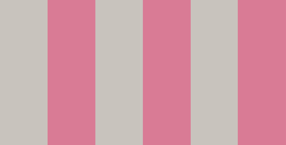 Cole & Son - Marquee Stripes Glastonbury Stripe Pink & Linen 110/6031