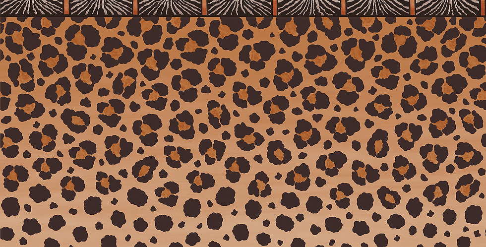 Cole & Son - Ardmore Zulu Border Red + Brown 109/13060