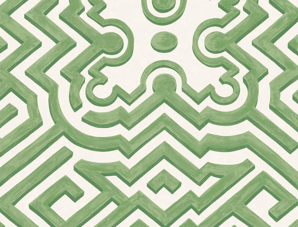 Cole & Son - HRP Palace Maze Green & Ivory 98/14059