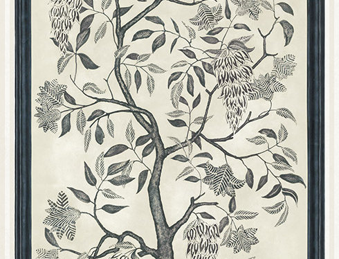Cole & Son - MLB Trees of Eden: Eternity Charcoal & Parchment 113/14041