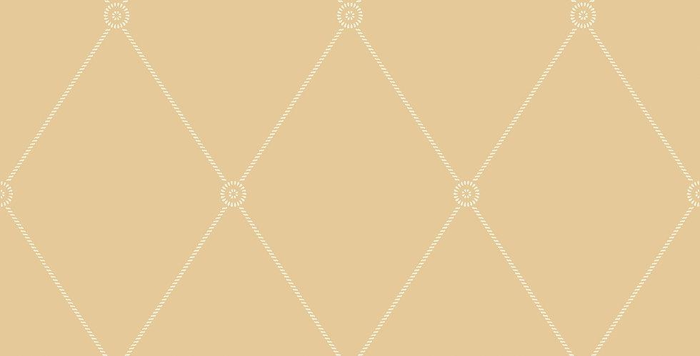Cole & Son - Archive Anthology Large Georgian Rope Trellis Yellow 100/13064