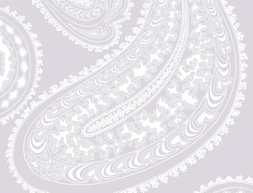 Cole & Son - Contemporary Restyled Rajapur White on Lilac 95/2012