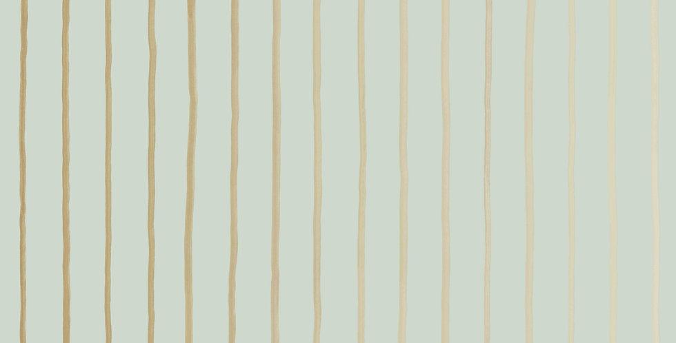 Cole & Son - Marquee Stripes College Stripe Duck Egg & Gilver 110/7036