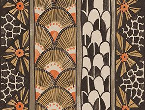 Cole & Son - Ardmore Border Black Burnt Orange 109/5026
