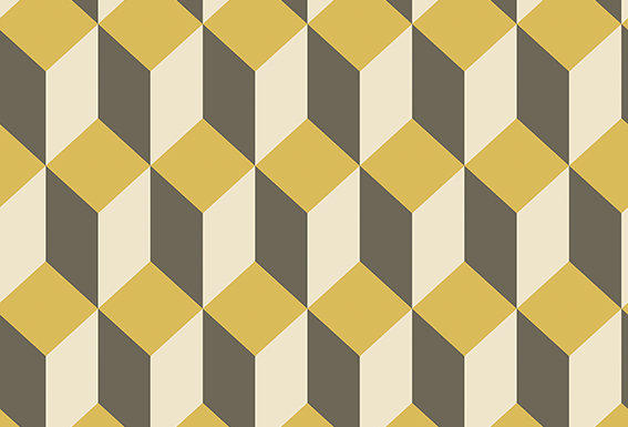 Cole & Son - Geometric II Delano Yellow & Black 105/7032