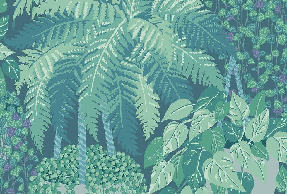 Cole & Son - Botanica Fern Viridian & Teal 115/7022