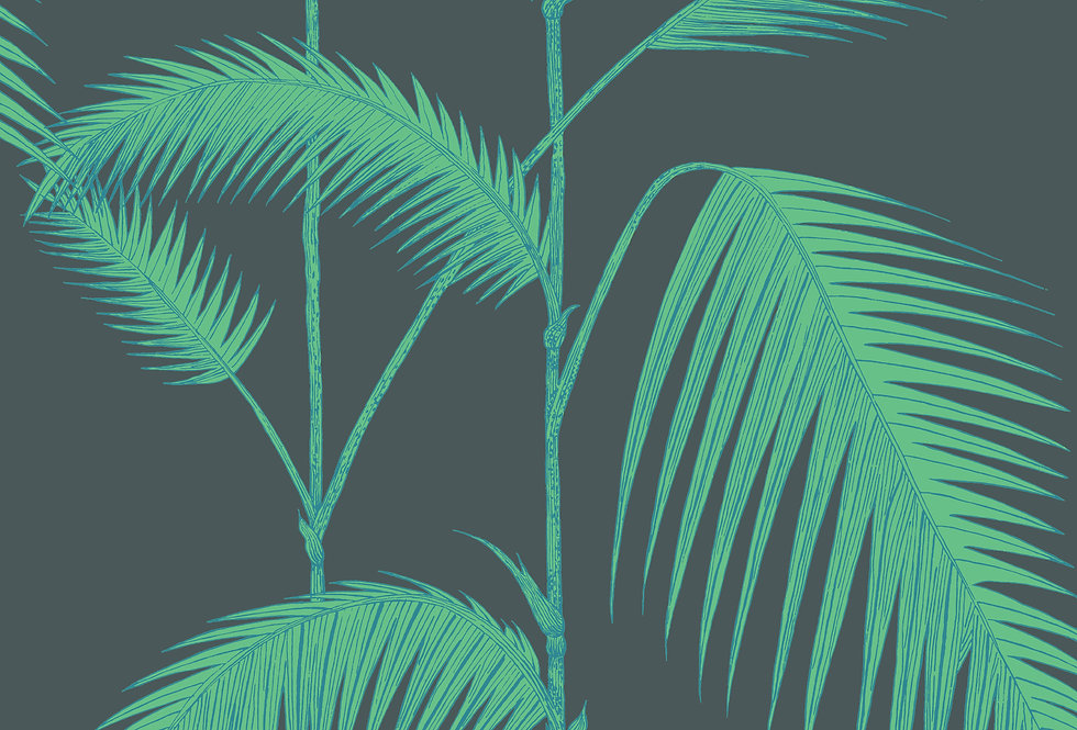 Cole & Son - Icons Palm Leaves Alabaster Viridian 112/2007