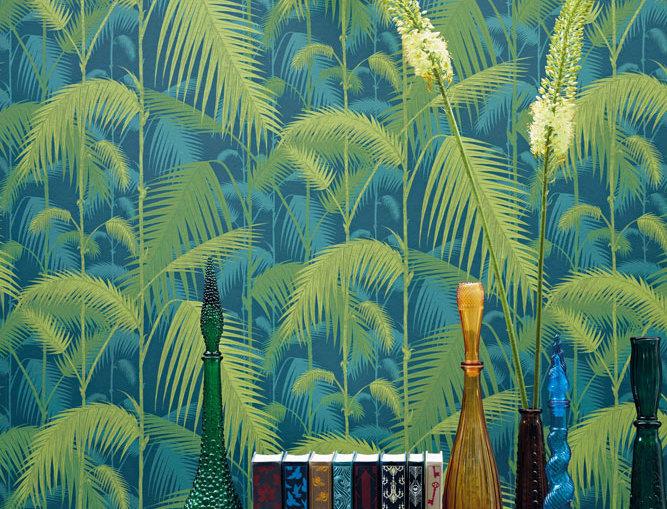 Cole & Son - Icons Palm Jungle Petrol & Lime 112/1002