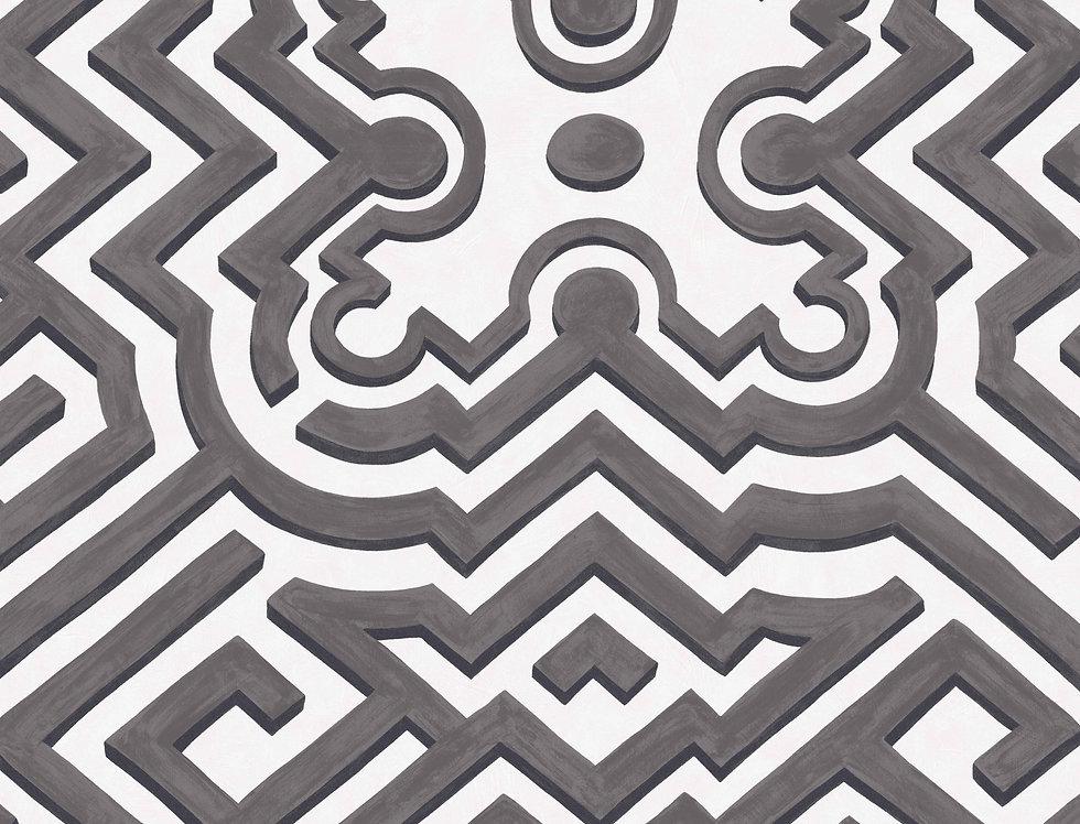 Cole & Son - HRP Palace Maze Black & White 98/14057
