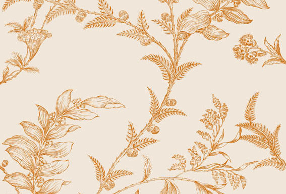 Cole & Son - Archive Traditional Ludlow Off White & Copper 88/1003