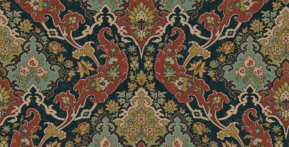 Cole & Son - Mariinsky Damask Pushkin Multi-Coloured 108/8040