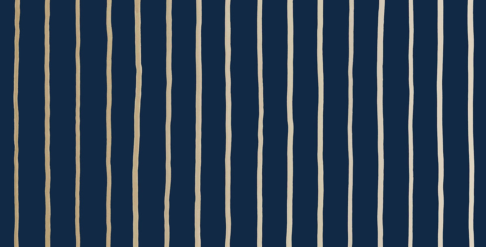 Cole & Son - Marquee Stripes College Stripe Ink 110/7037