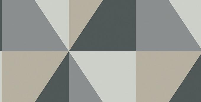 Cole & Son - Geometric II Apex Grand Grey & Black 105/10043