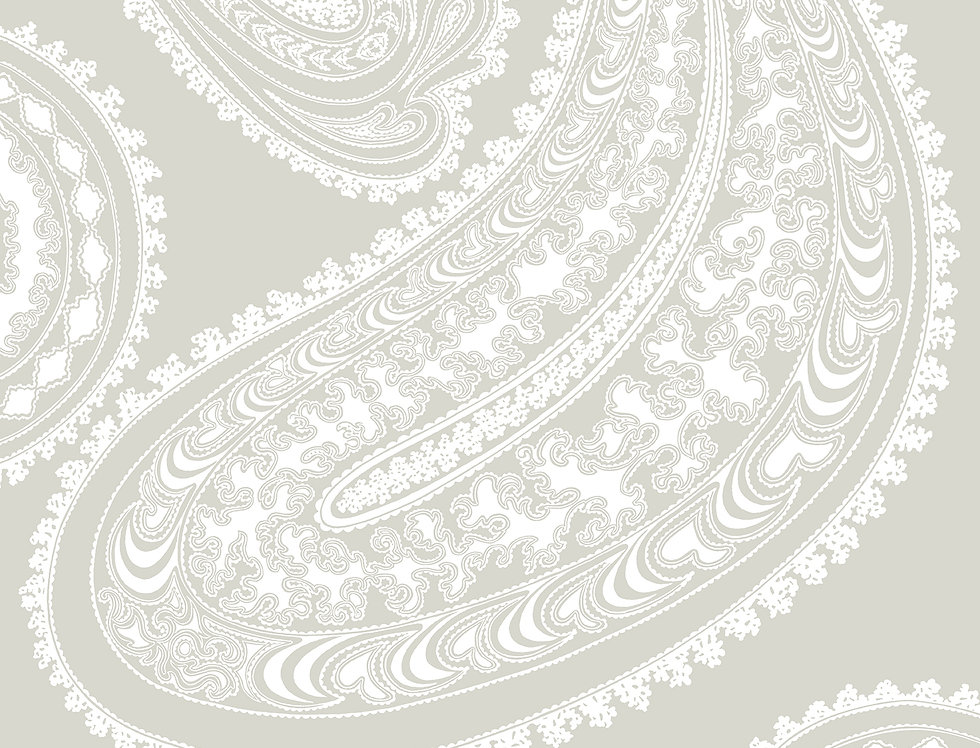 Cole & Son - Contemporary Restyled Rajapur White on Linen 95/2011