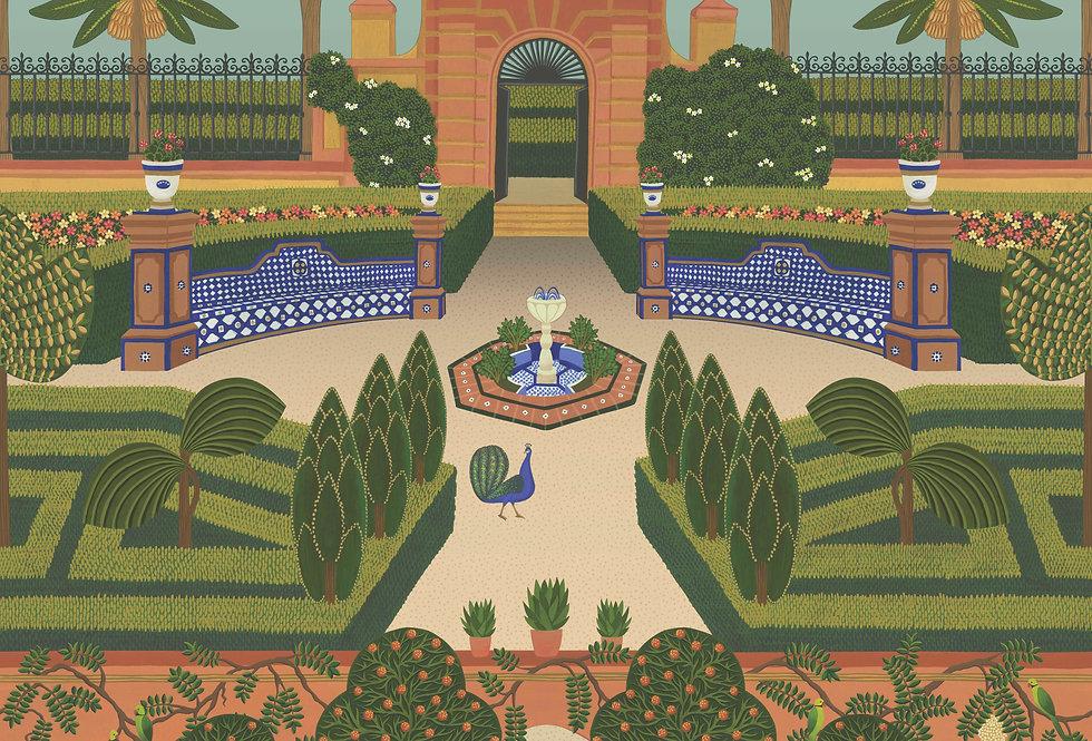 Cole & Son - Seville Alcazar Gardens Terracotta & Spring Green Multi 117/7020