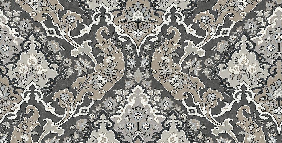 Cole & Son - Mariinsky Damask Pushkin Charcoal 108/8043