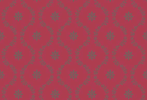 Cole & Son - Archive Traditional Clandon Raspberry & Pewter 88/3015