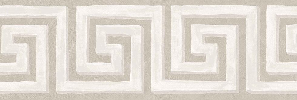 Cole & Son - HRP Queens Key Border Stone & White 98/9040