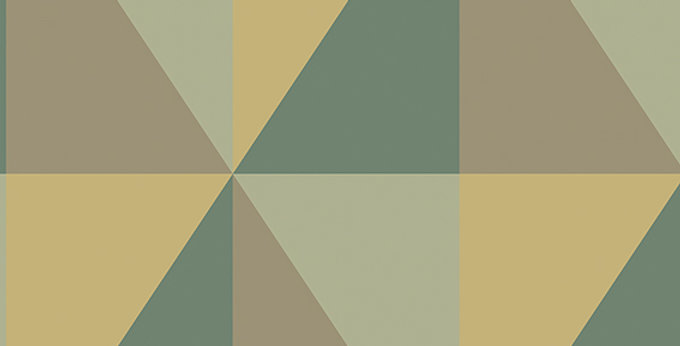 Cole & Son - Geometric II Apex Grand Green 105/10044