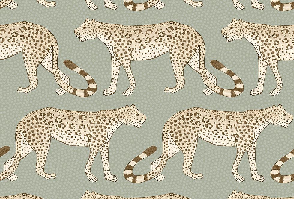 Cole & Son - Ardmore Leopard Walk Olive White 109/2009