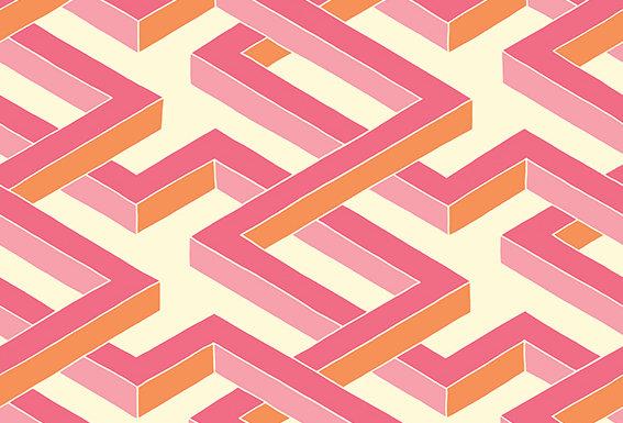 Cole & Son - Geometric II Luxor Pink 105/1004