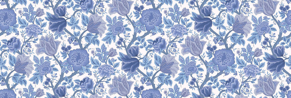 Cole & Son - The P/wood Coll Midsummer Bloom Hyacinth Blues on Chalk 116/4016