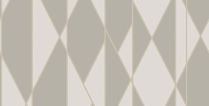 Cole & Son - Geometric II Oblique Grey & White 105/11046