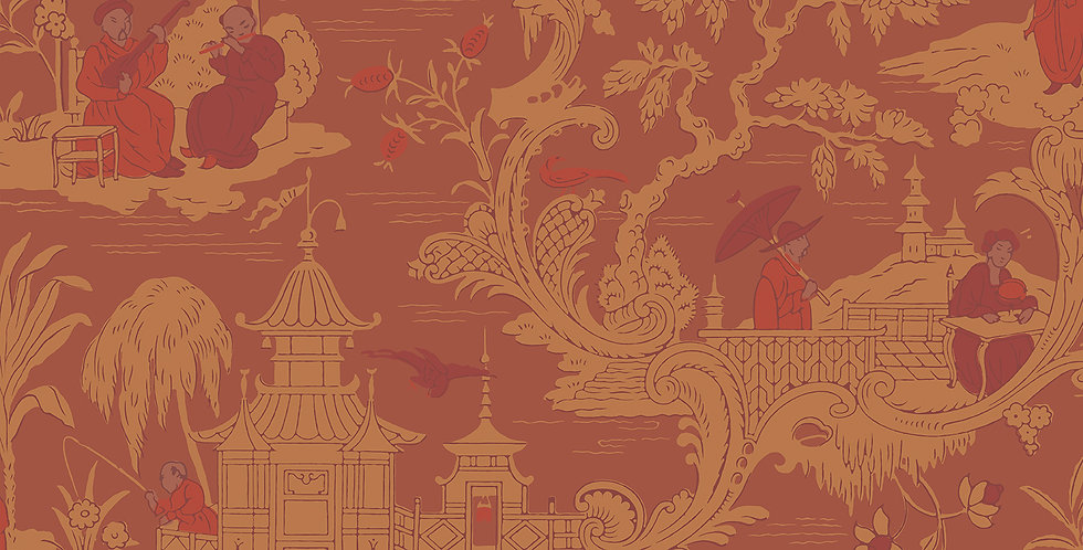 Cole & Son - Archive Anthology Chinese Toile Red 100/8041