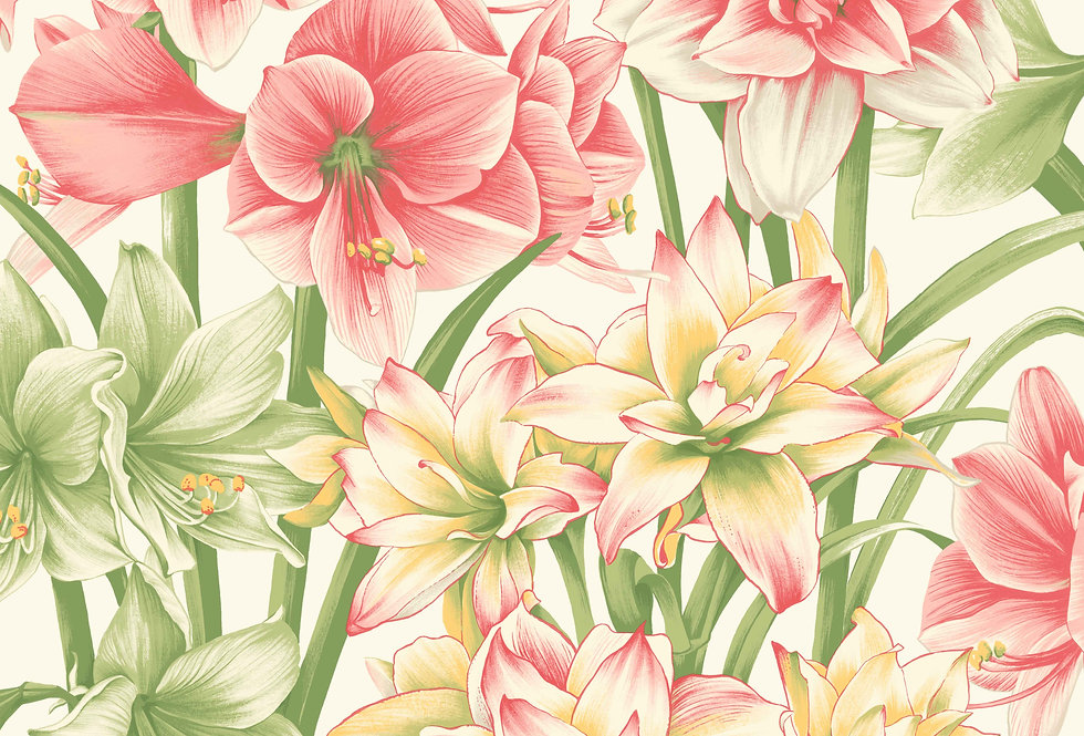 Cole & Son - HRP Exotiks Green & Pink 98/6023