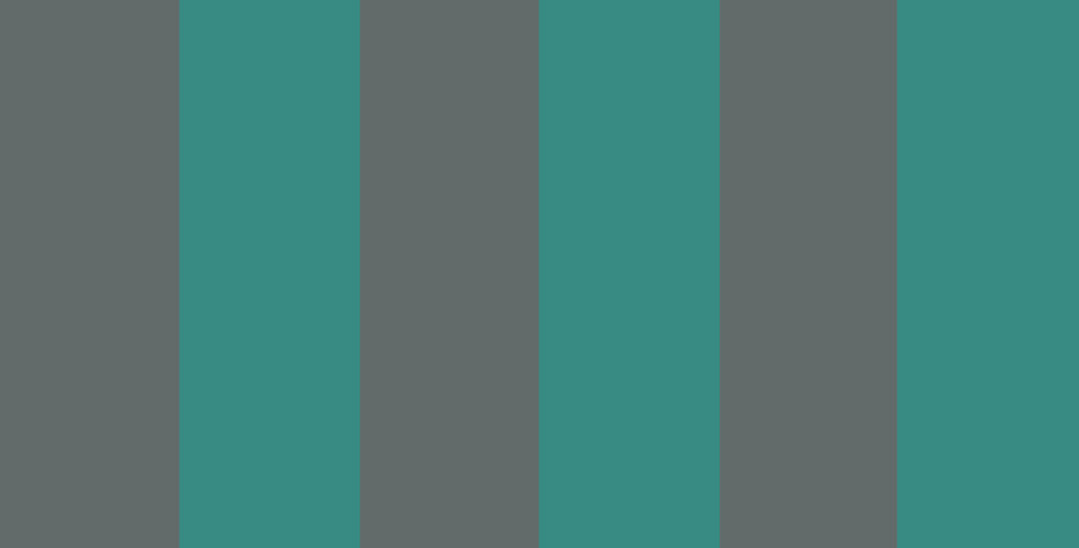 Cole & Son - Marquee Stripes Glastonbury Stripe Teal & Charcoal 110/6032